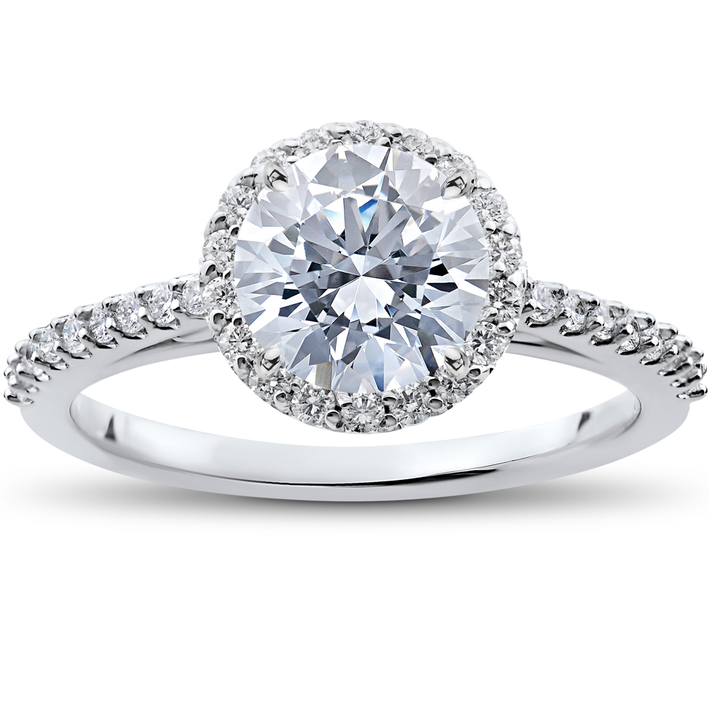 1/3 ct Round Halo Diamond Engagement Ring Setting
