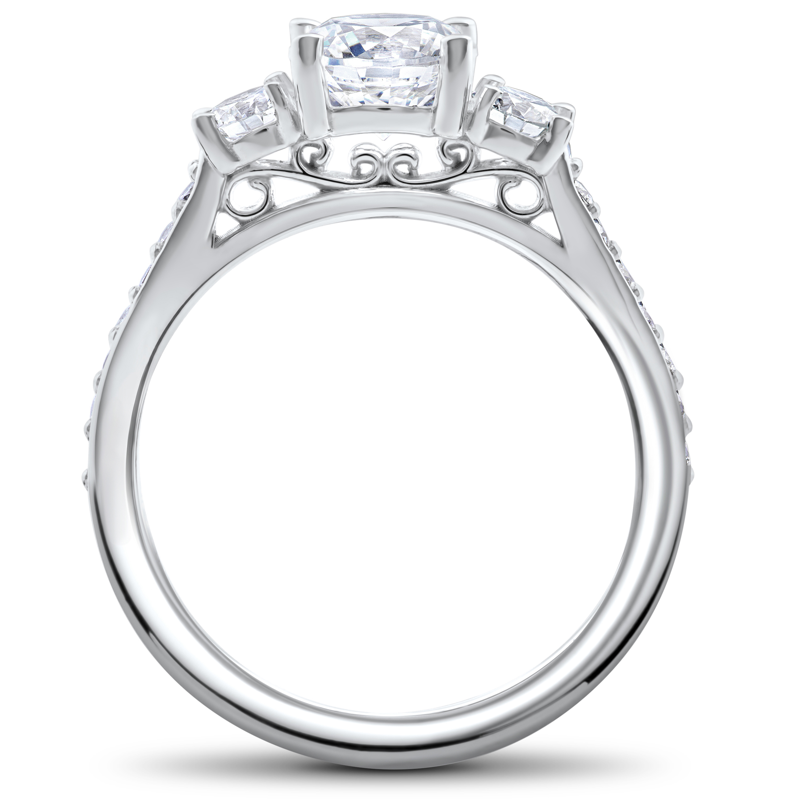 set settings jewellery engagement with shoulders claw channel setting ring diamond centre