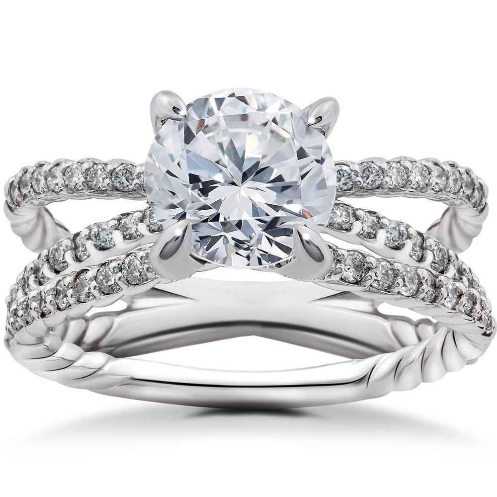 5/8ct Diamond Isabella Engagement Ring Setting & Matching Wedding Band