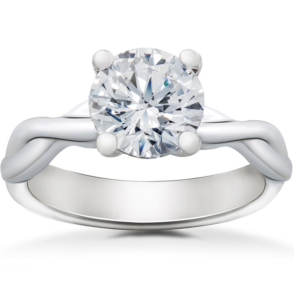 Grace Twisted Vine Engagement Ring Solitaire Setting