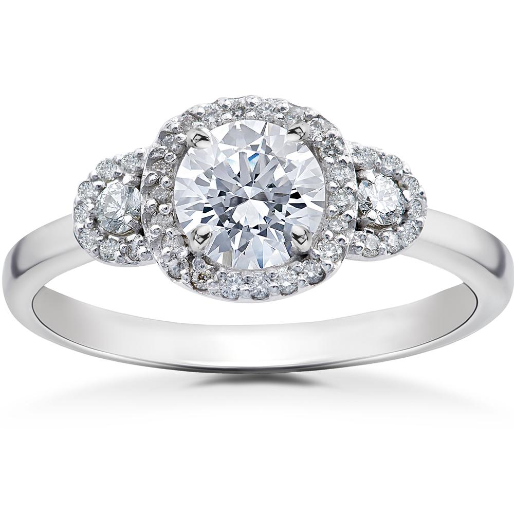 1/2ct Diamond Charlotte Halo Engagement Ring Setting