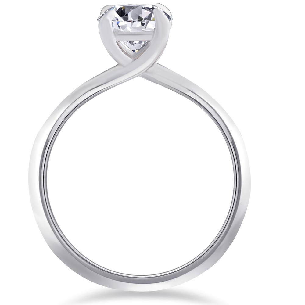 g si 1 ct solitaire engagement ring 14k white gold