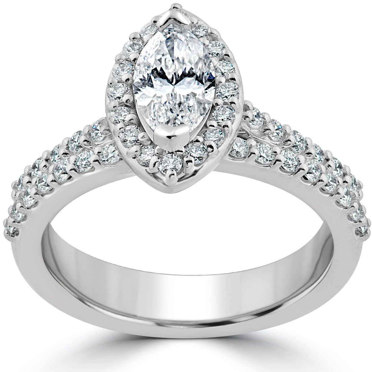 1 1 2ct marquise halo diamond engagement wedding ring set. Black Bedroom Furniture Sets. Home Design Ideas