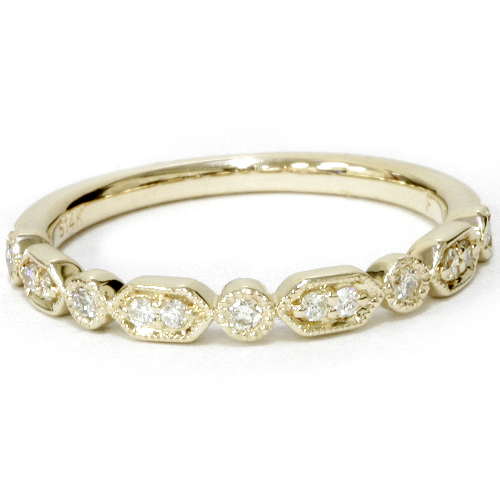 1 6ct diamond wedding stackable ring 14k yellow gold ebay. Black Bedroom Furniture Sets. Home Design Ideas