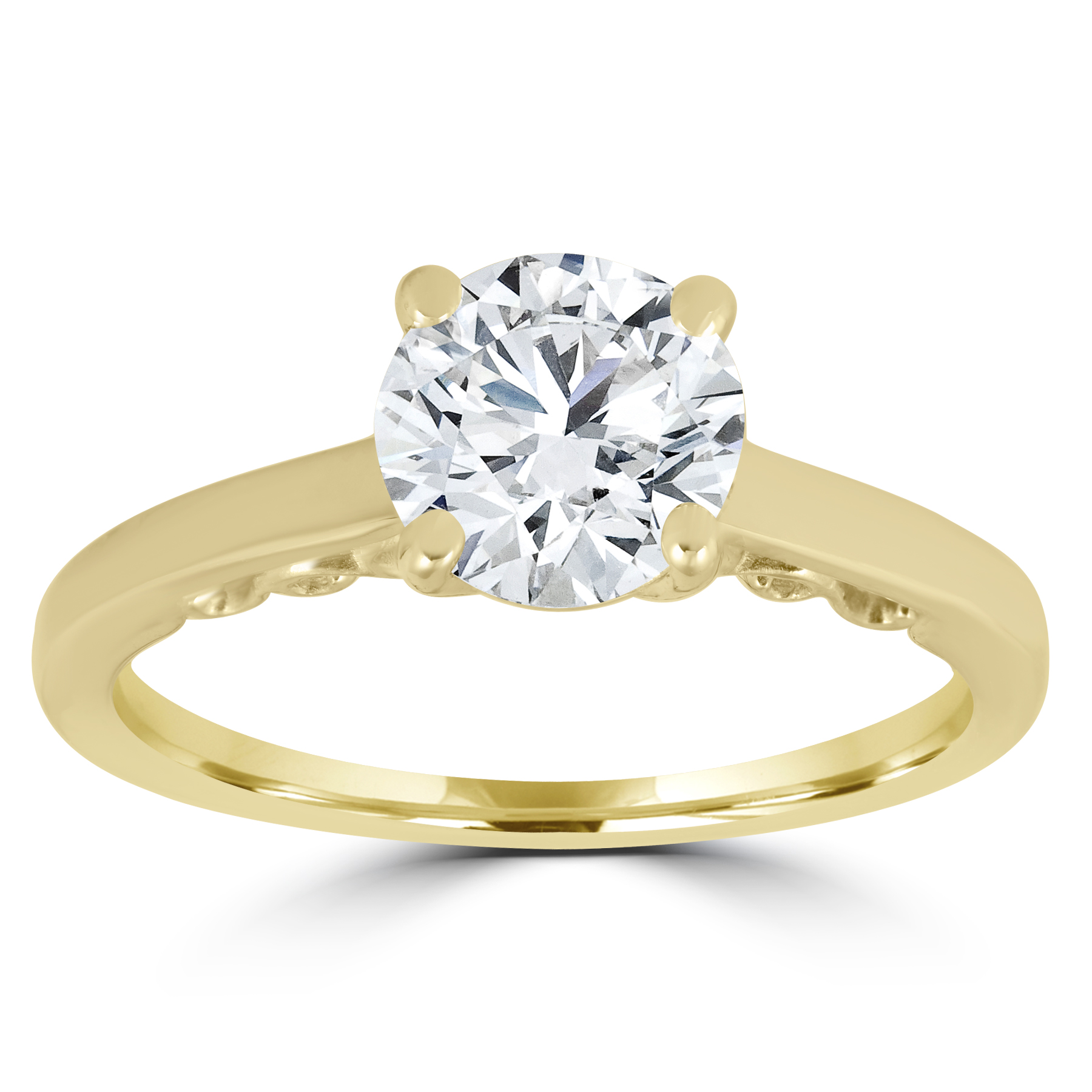1 ct Diamond Round Brilliant Solitaire Engagement Ring 14k ...