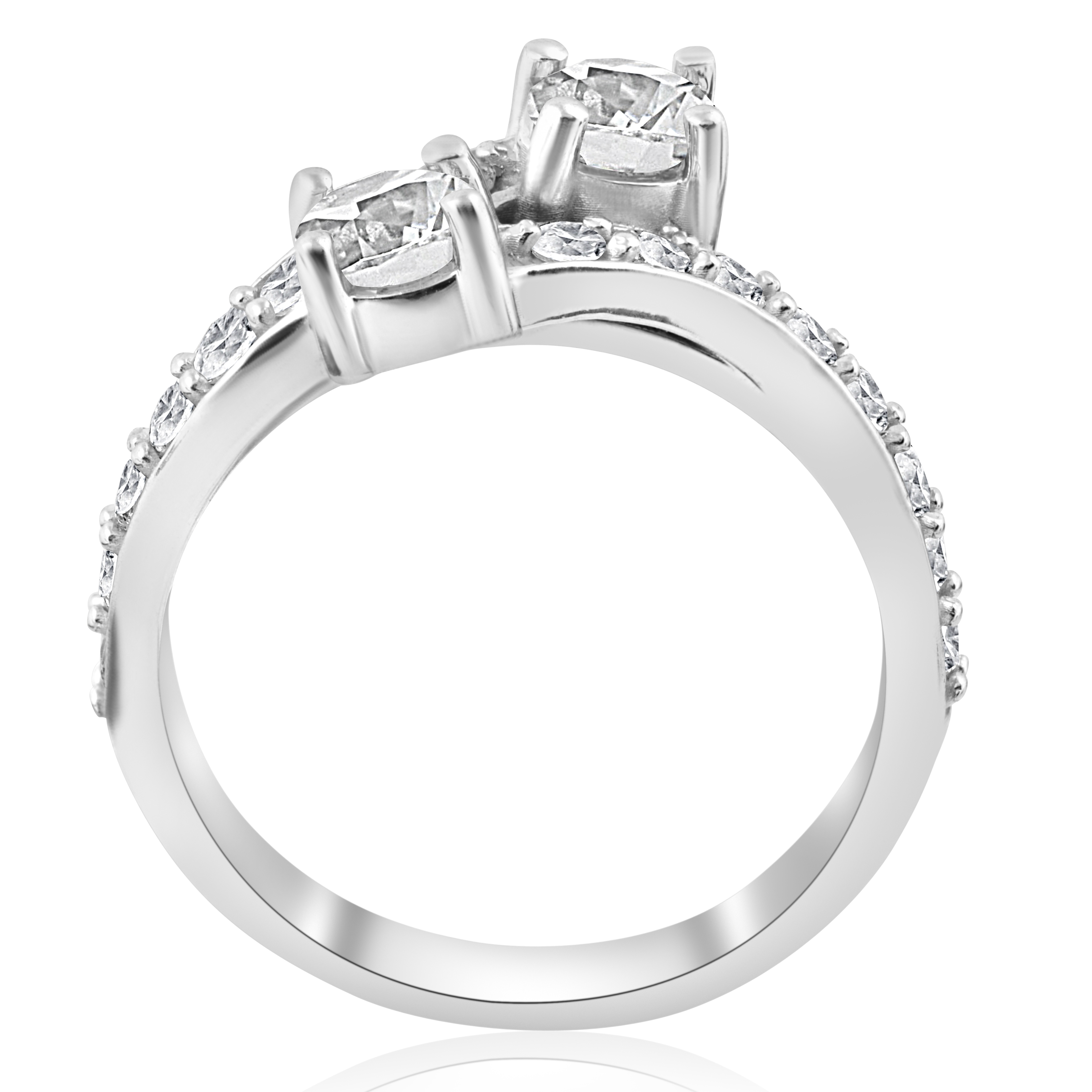 2ct Diamond Forever Us 2 Stone Solitaire Engagement Ring Wedding Set White  Gold